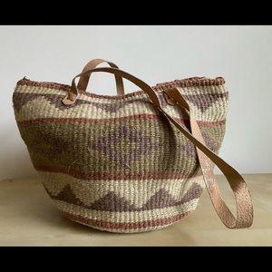 Boho Natural Fibers Purse Beach Bag Carryall